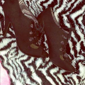 Christian siriano Black suede heels